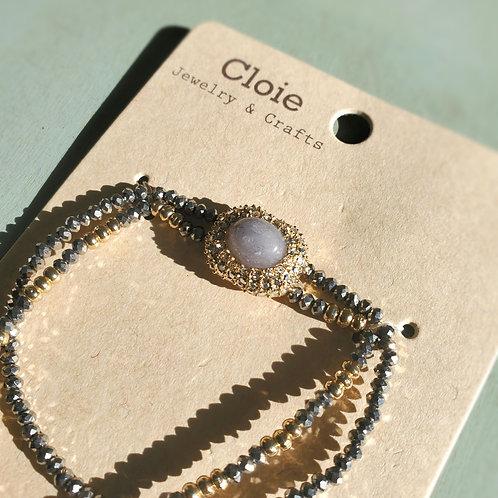 Gray sparkle Bracelet