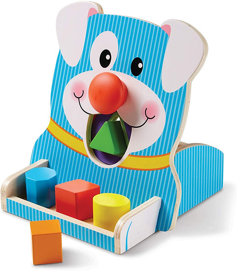 Wooden Spin & Feed Shape Sorter
