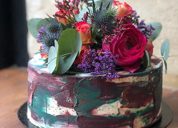 Nude cake floral 20 parts