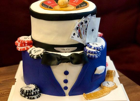 Cake design Casino 15 parts