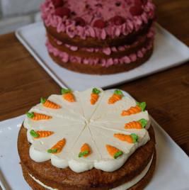 Carrot cake & Layer cake framboise