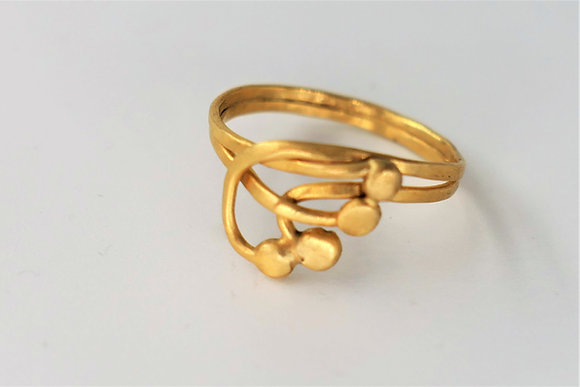 Tiny gold ring- beauty of the branches