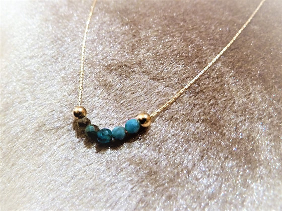 Tiny goldfilled necklace with Turquoise and goldfilled beads