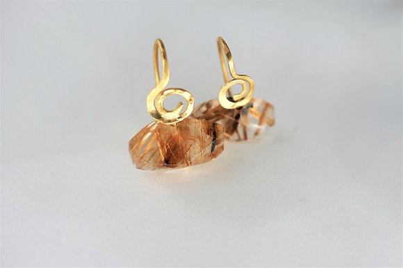 Rutilated Quartz earrings