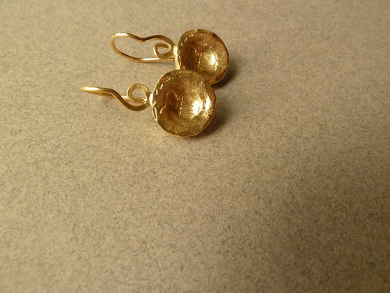 Goldplated amphora earrings