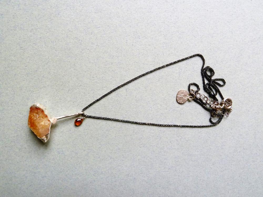 Citrine unique necklace by Oroca