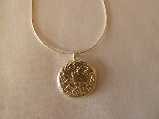 Silver  Agrippa coin necklace