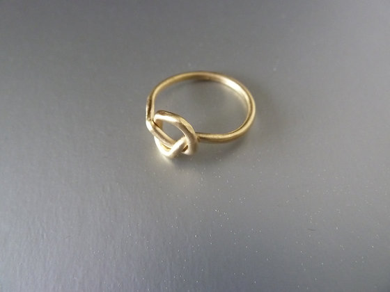 Knot ring 18 kt goldplated
