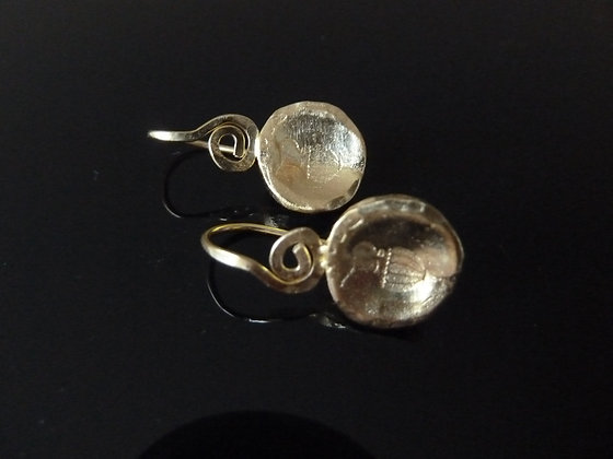 Silver earrings with amphora drawning