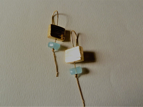 Aquamarin earrings