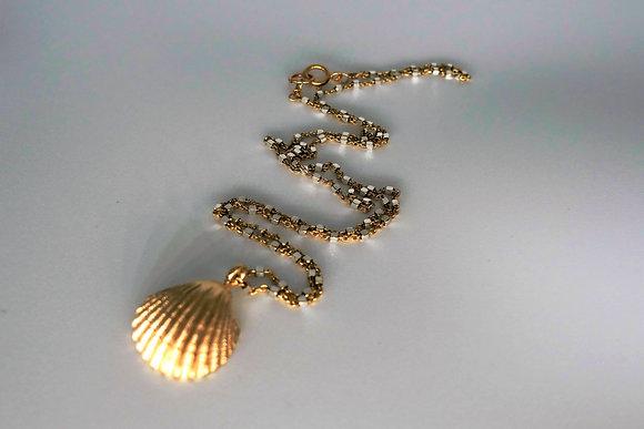 שרשרת צדף כסף-זהב