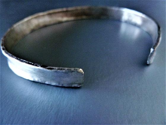 Wide Cuff Bracelet, 925 sterling silver