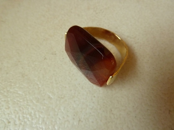 Carnelian goldplated ring