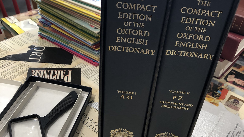 TheCompact Edition of the Oxford English Dictionary, 1989