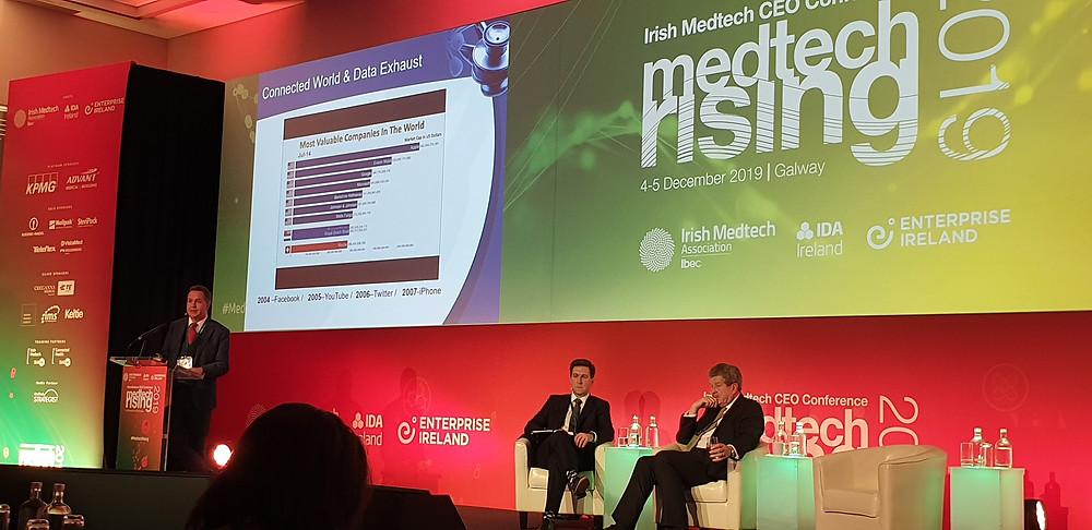 Prof. Derek O'Keefe addressing Medtech Rising.