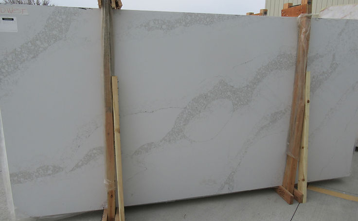 Aggranite Quartz - Statuary Nutmeg slab.