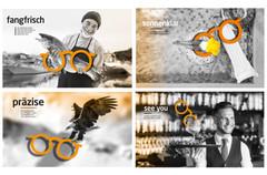 Kunde: Marketing im Blick, Vimbuch Projekt: Visuelles Kampagnenkonzept für den Einzelhandel im Bereich Optik Mit 17 verschiedenen Motiven  Umsetzung: Beileger, Klappkarten, Poster