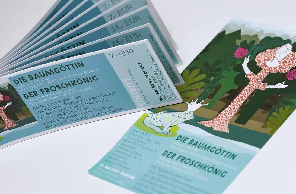 Chor Fidelitas, Ebersteinburg Poster und Eintrittskarten für ein Konzert, Grafikdesign und Illustration