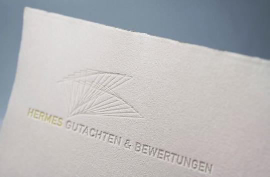 Kunde: Hermes Gutachten & Bewertungen, Rastatt   Corporate Design  Logo, Geschäftsdrucksachen und Info-Flyer