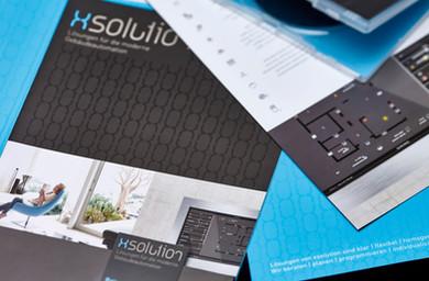 Kunde: X-Solution, Kappelrodeck Projekt: Corporate Design, Geschäftsdrucksachen, Infomappe, RolUps, Infoflyer, Info-Icons für das Smart-HomeTouchpanel