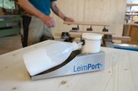 Kunde: Christoph Schmider   Corporate Design für den LeimPort Visitenkarten, Infoflyer, RolUp, Internetauftritt