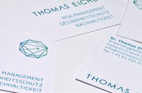 Kunde: Thomas Eiche, Basel   Corporate Design  Logo, Geschäftsdrucksachen und Internetauftritt