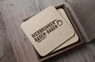 Kunde: Bierbrunnen, Baden-Baden   Corporate Design für das Restaurant Logo, Geschäftsdrucksachen und Eröffnungsaktion