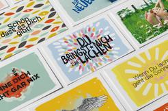 Kunde: Kaufhaus-Peters, Achern, Oberkirch, Bühl, Freudenstadt Projekt: Komplimentekarten für 4 Standorte Umsetzung: Postkarten