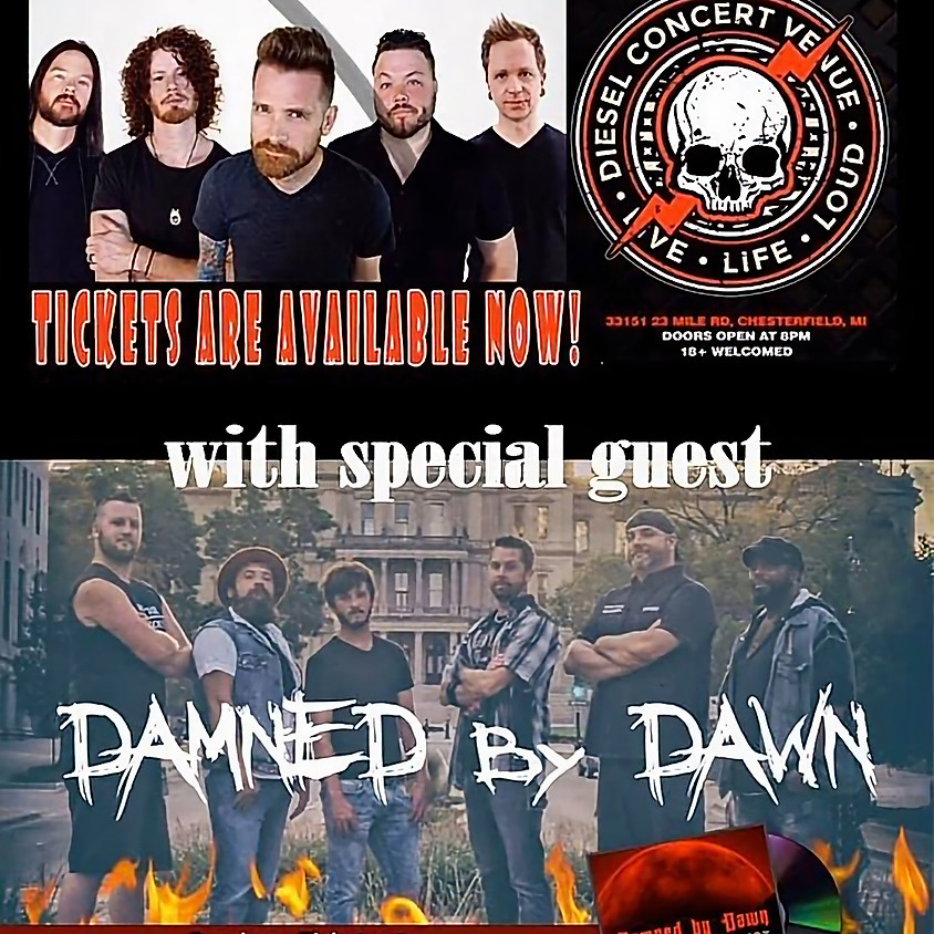 HINDER wsg / DAMNED BY DAWN