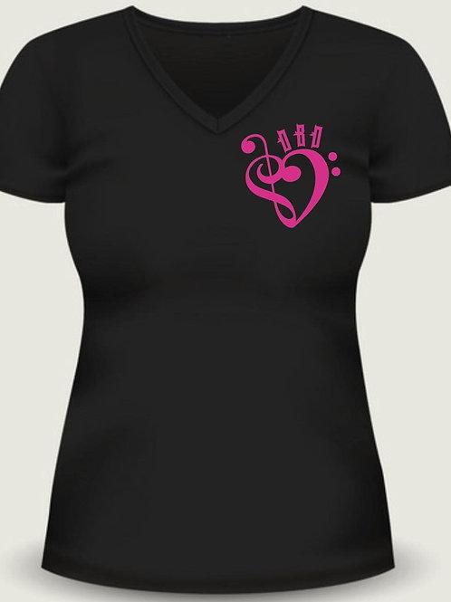 """Women's """"Tattoo Heart"""" Logo V Neck"""