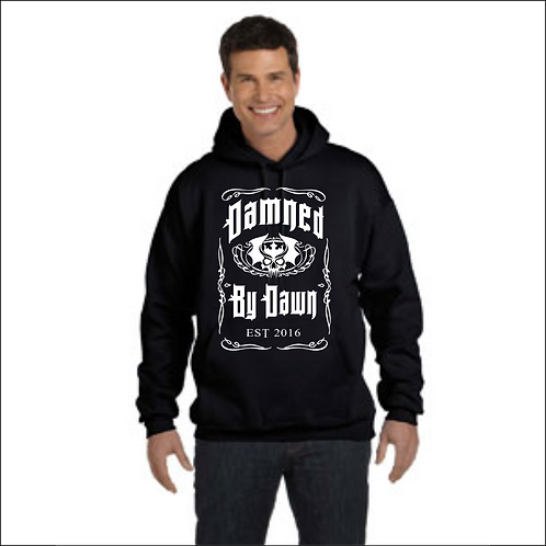 "Damned by Dawn ""Whiskey"" Hoodie w/Sleeve Print"