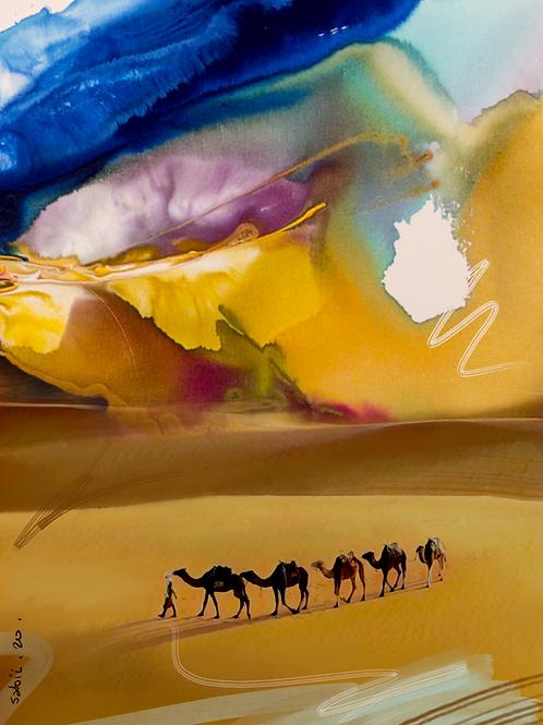 Caravan through Sahara