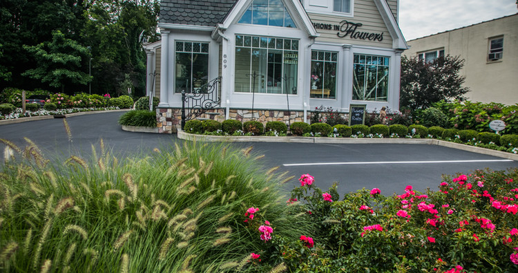 Fieldstone veneer with complimenting landscaping