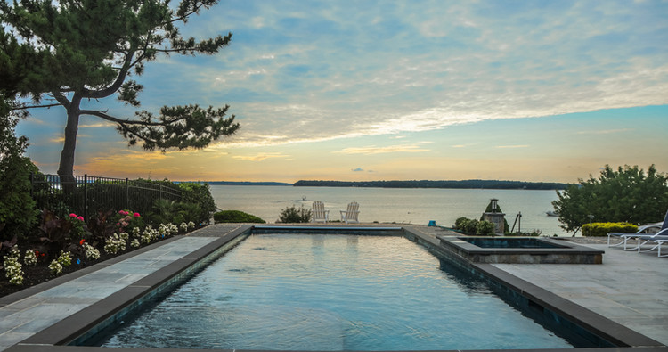 Pools, patios and hot tubs in natural settings