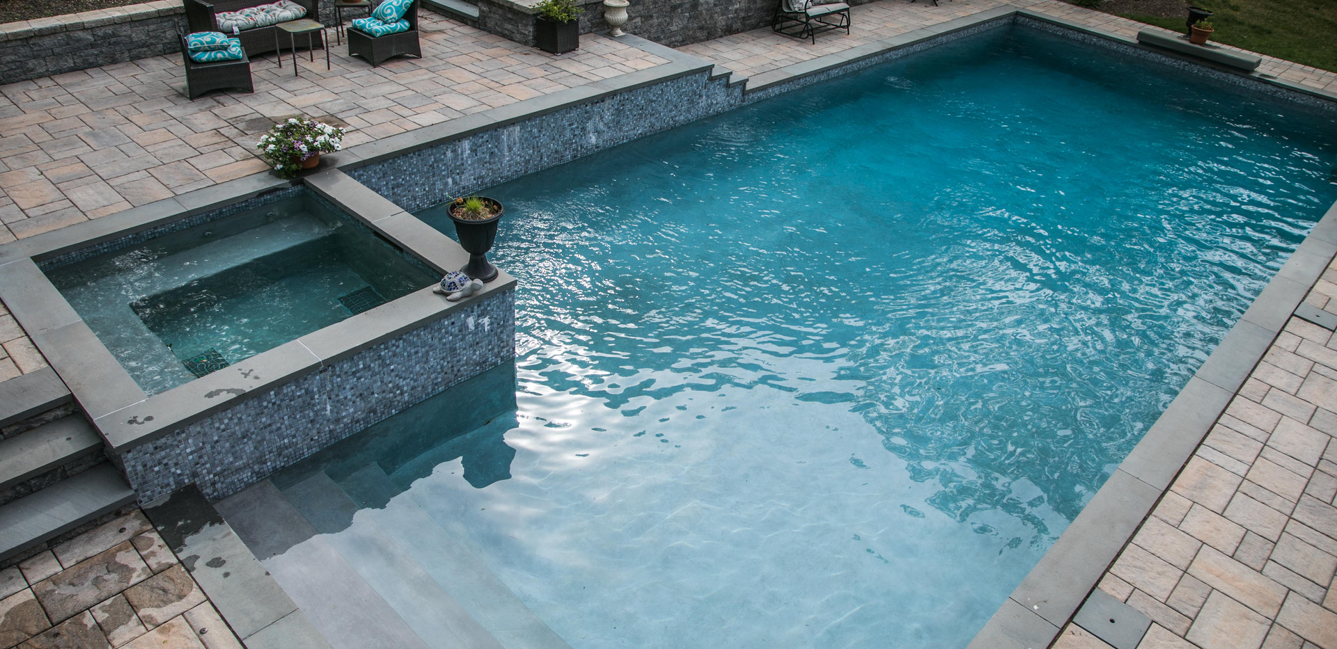 Custom pools and patios