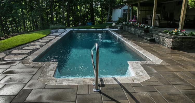 Pools and patios set in natural settings