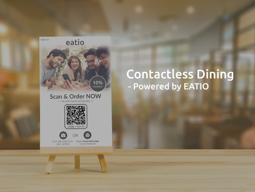 Eatio: Introducing Contactless Dining Experience for Restaurants