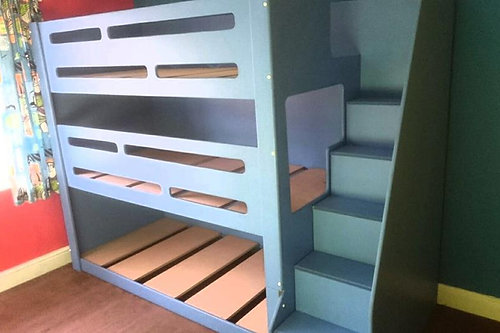 Funky Triple Tier Bunk With Stairs