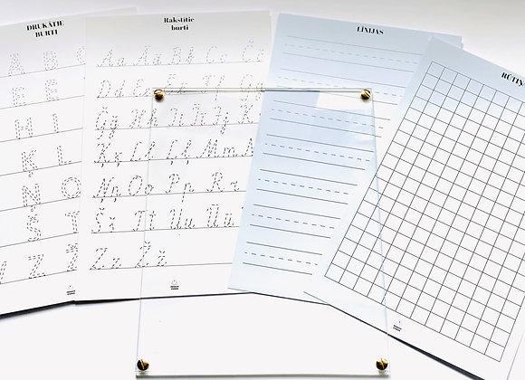 Vingrinu rociņu - mācos rakstīt un rēķināt!