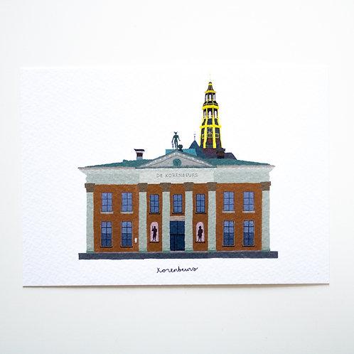 A6 Postcard Korenbeurs
