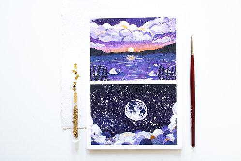 A5 Print 'Purple cotton candy'