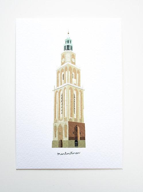 A6 Postcard Martinitoren