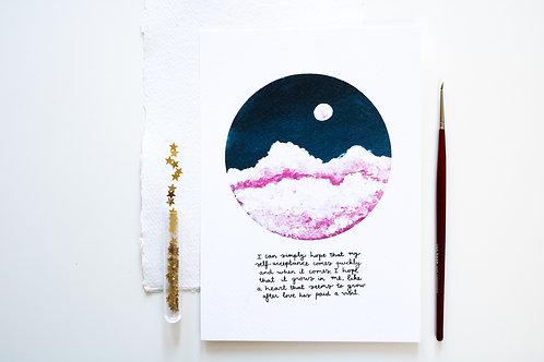 A5 Print 'Cloudy sky'