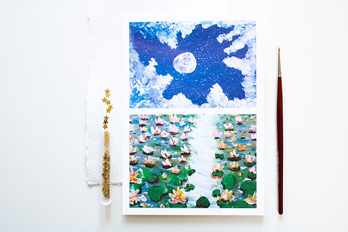 A5 Print 'Water lilies 01'