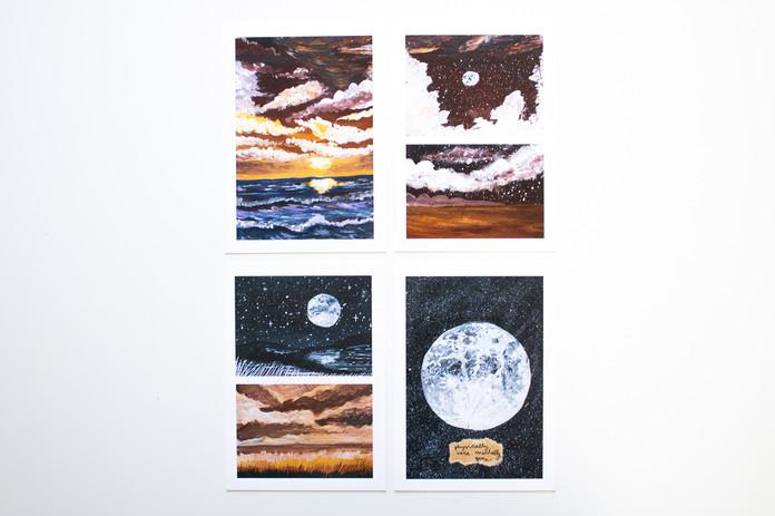 Postcard set x4