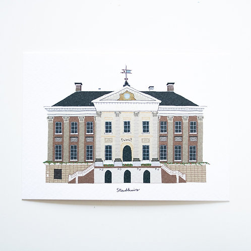 A6 Postcard Stadhuis