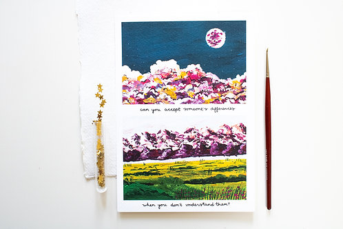 A5 Print 'The mountains speak'