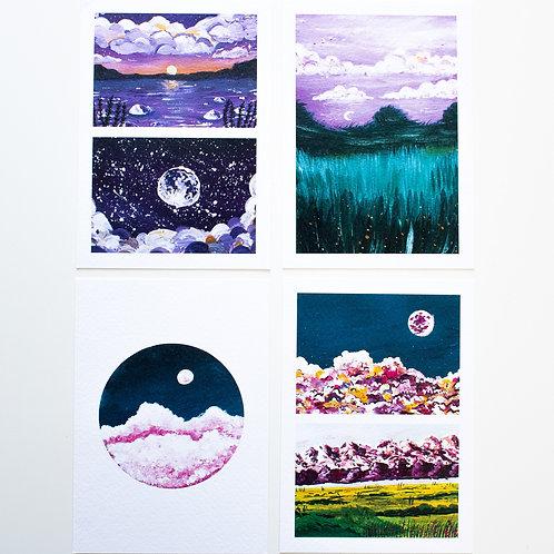 Sketchbook A6 postcards | Enchanting forest