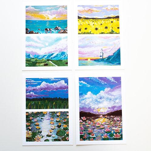 Sketchbook A6 postcards   Summer glow