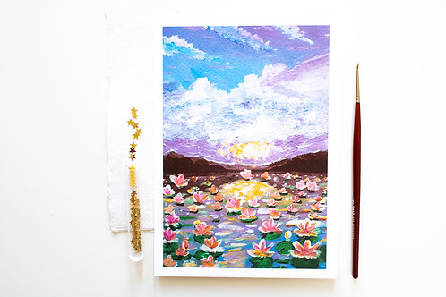 A5 Print 'The wonderland of water lilies'